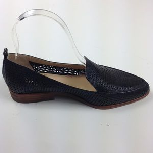 Vince Camuto Kade Perforated Black Flats Loafer 6